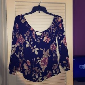 Charlotte Russe Floral Off The Shoulder Blouse